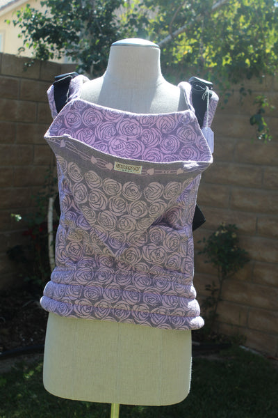 Wompat Baby Carrier - Oscha Slings  Roses Amor Half Woven Wrap Conversion - Hip Mommy Exclusive