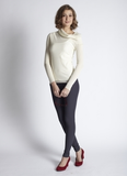 Mothers En Vogue - Asymmetric Cowlneck Woolen Pullover Sweater Magnolia (FINAL SALE)