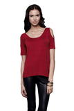 DOTE Amber Cutout Top - Rust Red