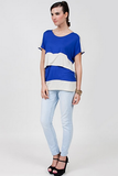 DOTE Sidney Top - Blue/Beige
