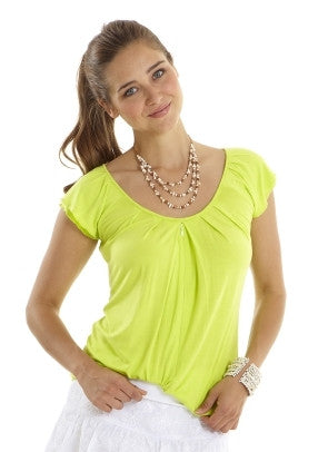 Mothers En Vogue - Slouchy Pleated Top -Lime Sherbet