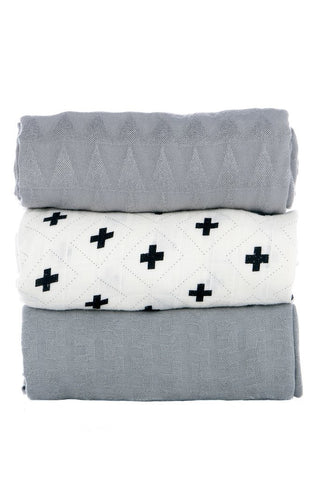 Tula - Splatter Jet Blanket (Set of 3)