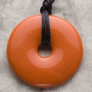 Teething Bling Donut Shaped Pendant - Coral