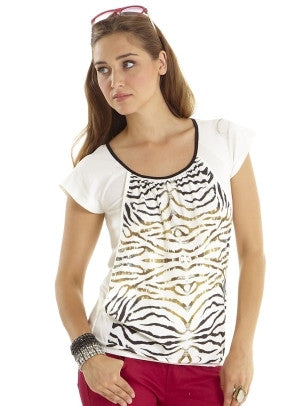 Mothers En Vogue - That's Wild Graphic Tee (Zebra Print)