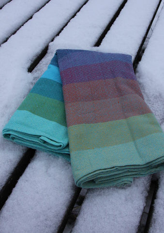 Girasol - Arctic Rainbow Diamond Weave Woven Wrap Size 6 (RETURN FINAL SALE)