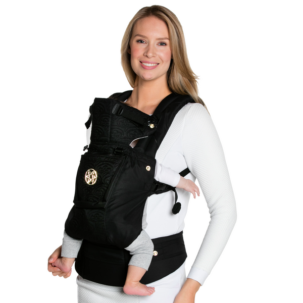 Lillebaby Complete Embossed Luxe Baby Carrier - Noir (Black with Gold) RETURN - FINAL SALE