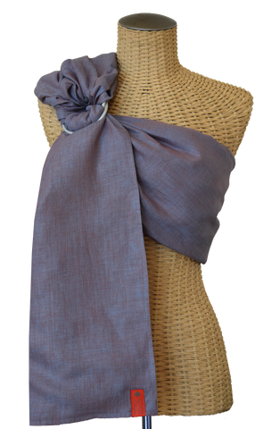 Sakura Bloom - Chambray Linen  Baby Sling :: Bluestone