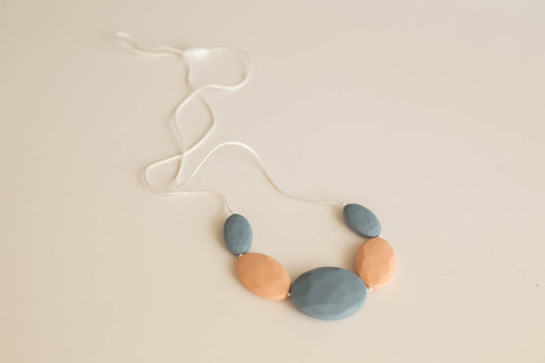 Little Teether - Teething Jewelry - Chic Slate and Latte