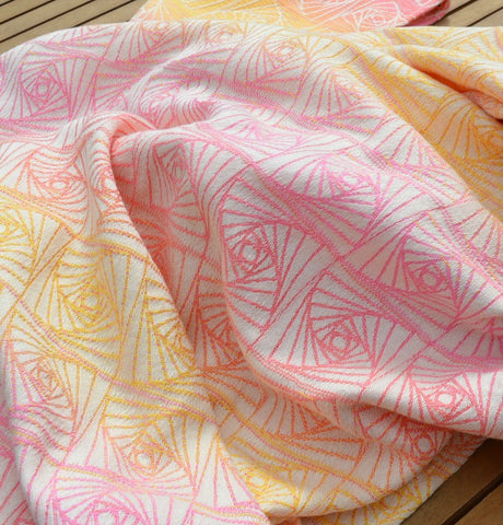 Firespiral Slings - Sherbet Cirrus Curves of Pursuit Woven Wrap
