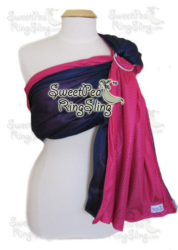 SweetPea Water Ring Sling - Navy/Pink (FINALSALE)