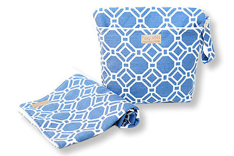 Foxy Vida - Azul Lattice Wet Bag Set