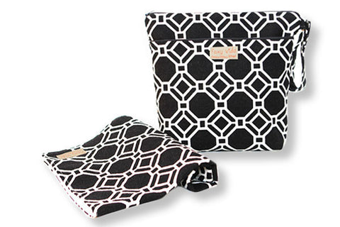 Foxy Vida - Black Lattice Wet Bag Set