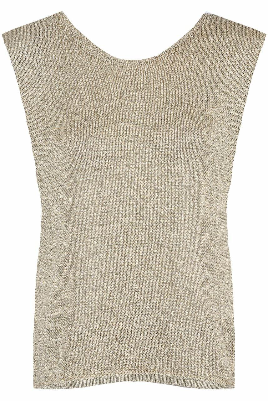 Metallic Knitted Top