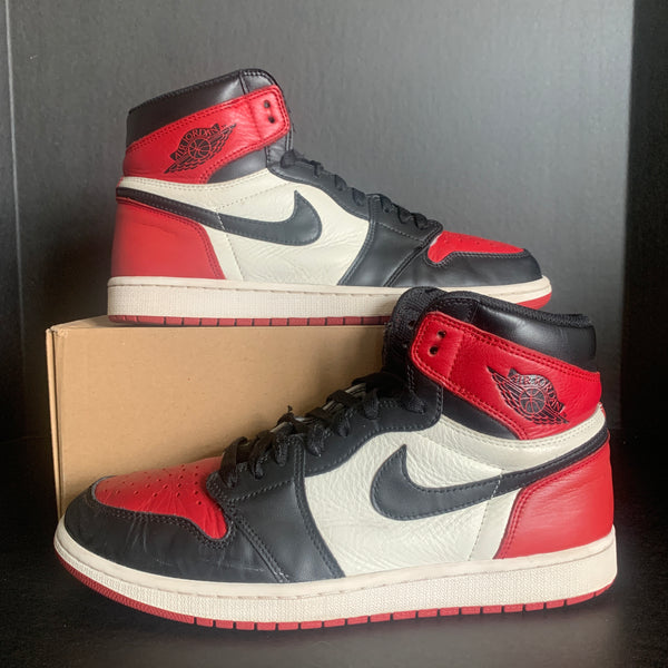 "Air Jordan 1 ""Bred Toe"" size 11"