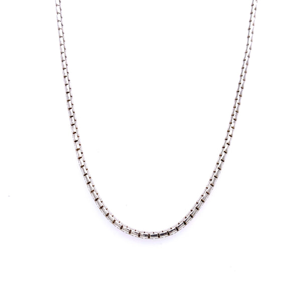 Silver Box Chain, Round, Width 1.7mm, Tight