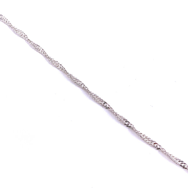 Silver Singapore Chain, 0.25mm