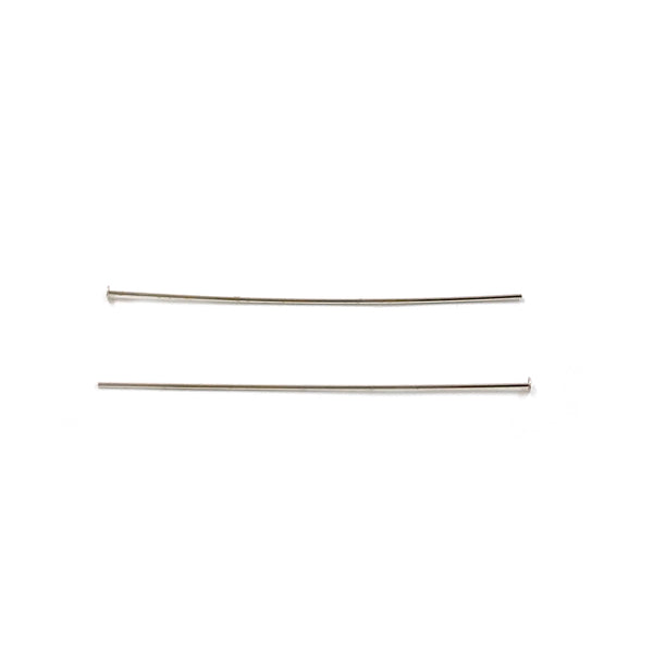Silver Head Pin, 0.51x38.1mm, 1.5mm Head