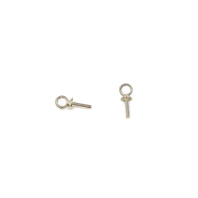 Silver Screw Eye, 2.9x7.5mm, Cup 2.5mm