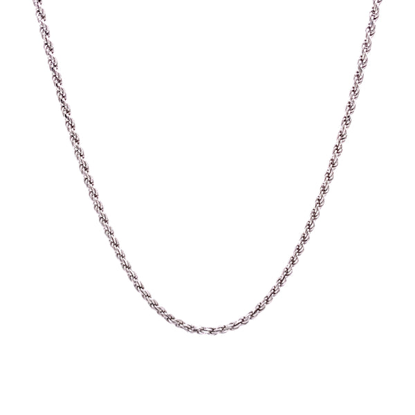 Silver Rope Chain, 0.40mm, Width 1.7mm, D/C, 20