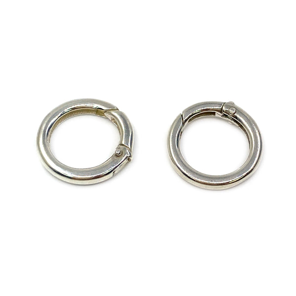 Silver Clasp, Round 2.7x17mm