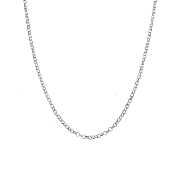 Silver Rolo Chain, 0.4mm wire, 1.35mm OD, RH
