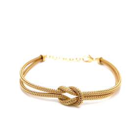 Silver Calza Chain, Bracelet, 16cm + 3cm Extension, Gold Plated