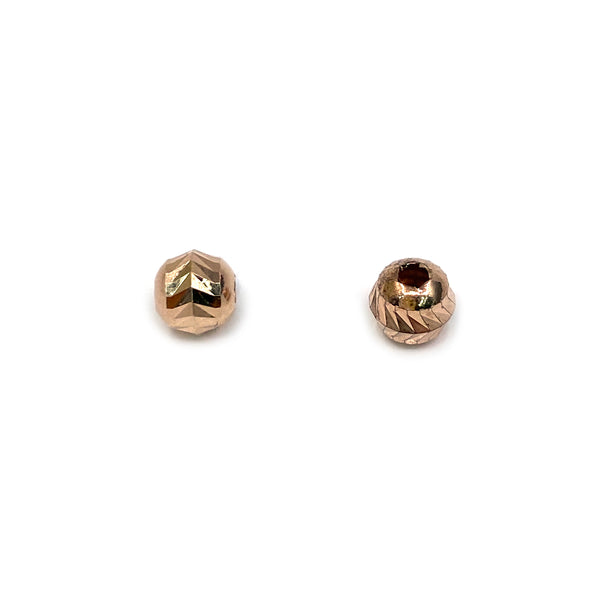 Silver Bead, Ear Cut, Round 5mm, Hole 1.5mm, Rose Plated, AT