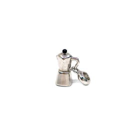 Silver Charm, Coffee Pot, RH Plated with Enamel