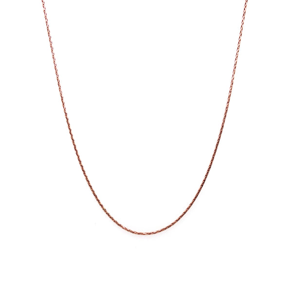 Silver Spiga Chain, 0.25mm wire, Width 0.75mm, D/C, 18
