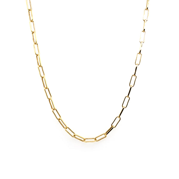 Silver Rolo Chain, 2.45x6.7mm, 0.7mm Wire Width, Gold Plated, ATG