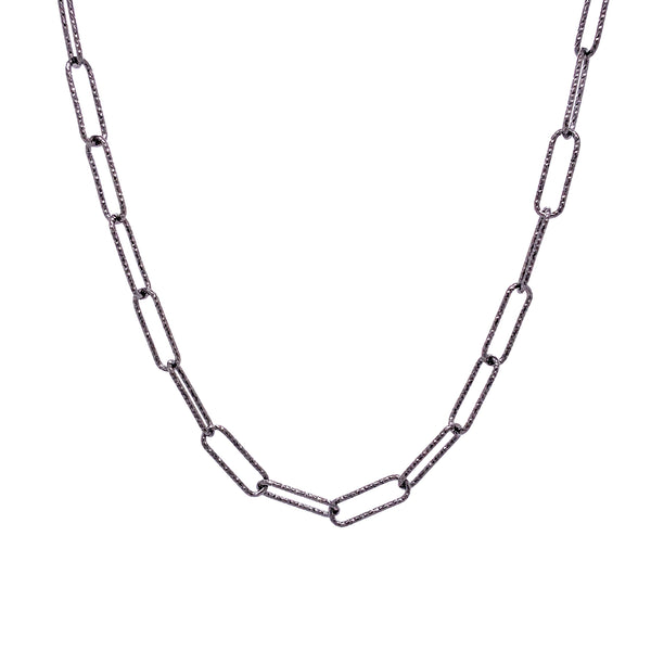 Silver Rolo Chain, 0.7mm, 3.5x11mm, DC, Ruthenium Plated, 24