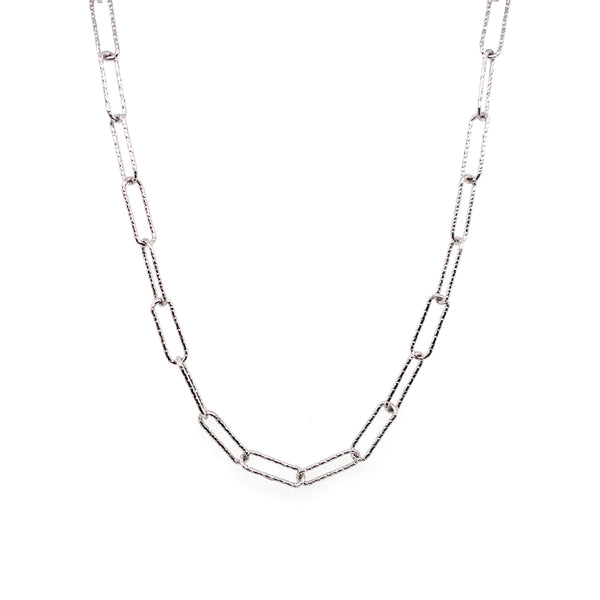 Silver Rolo Chain, 0.7mm, 3.5x11mm, DC, RH Plated, 24