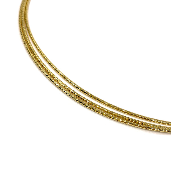 Silver Spring Omega Necklace, 1.3mm x 3 Strings, 16