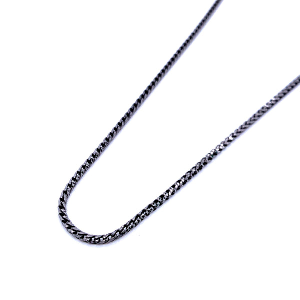 Silver Round Franco Necklace, DC, 1.9mm, Gun Metal Colour, 18