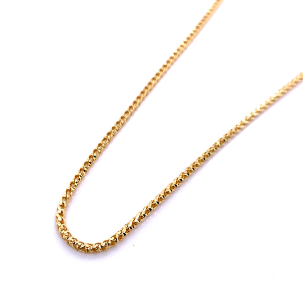 Silver Round Franco Necklace, DC, 1.9mm, Gold Plated, 18