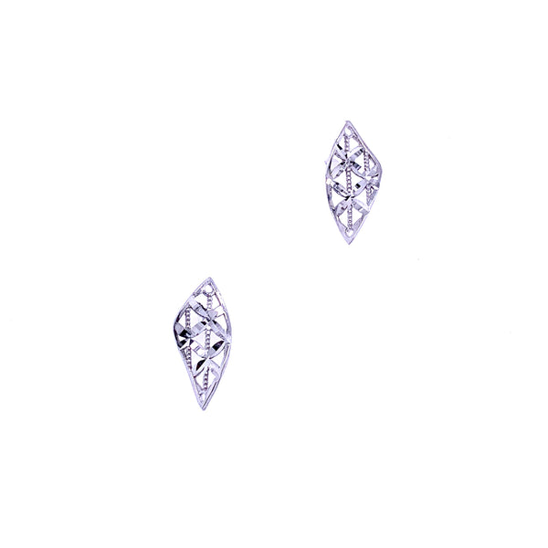 Silver Casting Earrings, Kite, DC, Rhodium Plated, 1 Pair