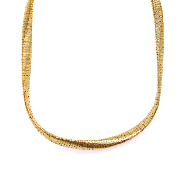 Silver Spiral Necklace, 5mm Twist , 40+5cm, Gold Plated, AT