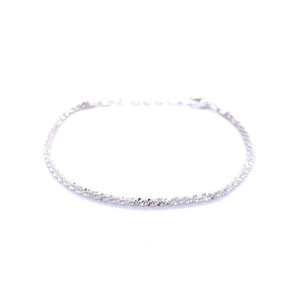 Silver Rock Chain, 035, D/C, 16cm+3cm Ext, IT PROLUX