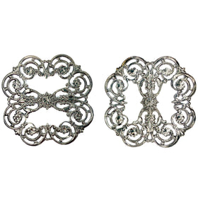 Brass Filigree, Flower 53mm, Black Nickel Plated