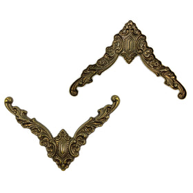 Brass Bent, L Shape 52mm, Filigree, Anti Brass Plated