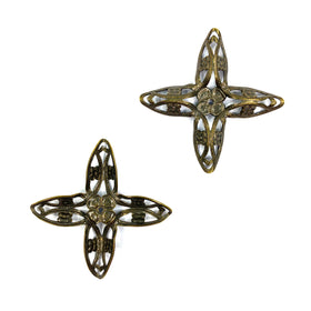Brass Filigree, Cross 48mm, Anti Brass Plated