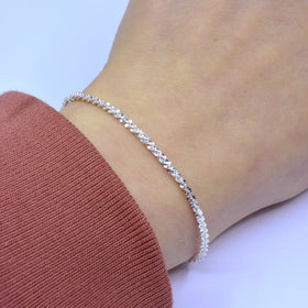 Silver Rock Chain, 040, D/C, 16cm+3cm Ext, IT Prolux