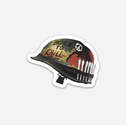 Born To Chill Hardhat Sticker