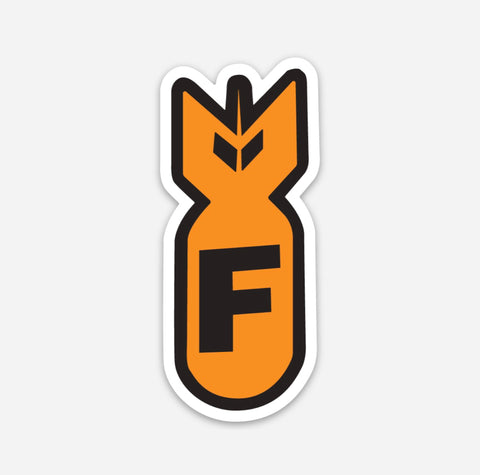 F Bomb Hardhat Sticker