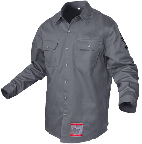KNOX FR SHIRT GRAY WITH PEARL SNAP BUTTON