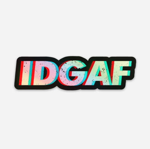 IDGAF Hardhat Sticker