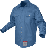 KNOX FR SHIRT BLUE WITH PEARL SNAP BUTTON