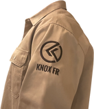 KNOX FR SHIRT TAN WITH PEARL SNAP BUTTON