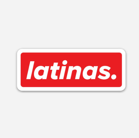 LATINAS. HARD HAT STICKERS