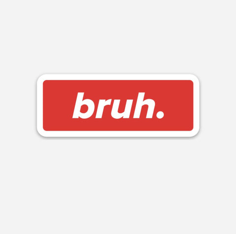 Bruh. Hardhat Sticker